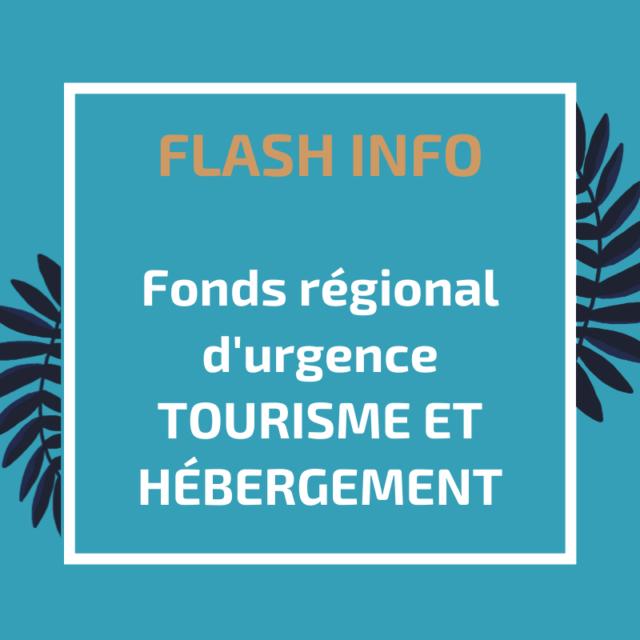 fonds régional d'urgence tourisme et hébergement