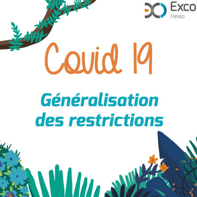Généralisation restrictions covid